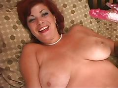 Spreading, Big Tits, Boobs, Masturbation, Pussy, Redhead