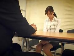 Nanako Mori Asian chick in gangbang office sex