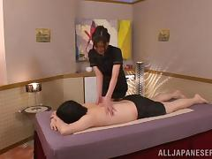 Japanese Girl Gives a Lucky Guy a Very Erotic Massage