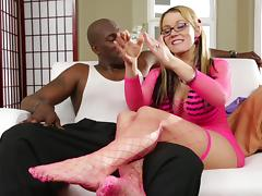 Vivacious Pornstar Playing With Her Tight Pussy Backstage