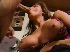 British MILF Nici Sterling fucked on a brown leathersofa