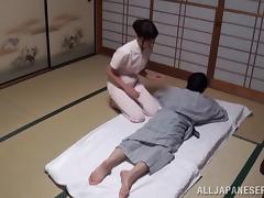 Japanese Massage Turned Into Hardcore Cock Riding