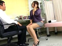 Aoi Miyama Blowing Her Boss Hardcore In The Office