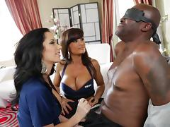 Sexy cops Lisa Ann & Jayden James arrest Lexington Steele and fuck him