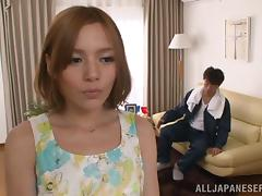 Lovely Japanese Babe With Natural tits Spoils Her Guy In Reality