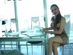 Latina Shemale With Small Tits Gets Her Asshole Drilled With Toys