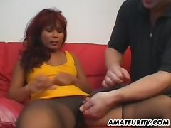 Amateur Asian girlfriend homemade hardcore action
