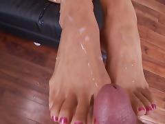 Foot fetish fuck with Mercedes Carrera