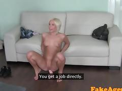 FakeAgent Blonde amateur loves anal sex