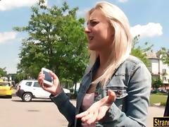 Hitch Hiker, Amateur, Blonde, Blowjob, Car, Penis