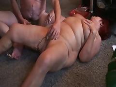 Husband masturbates wife with dildo and orgasm