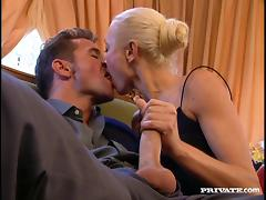 Winsome Russian Blonde Riding A Huge Dick Hardcore