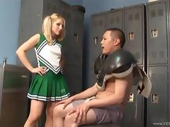 Pigtailed Cheerleader Fucks A Hot Asian Soccer Player