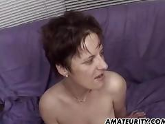 Amateur girlfriend gangbang with facials