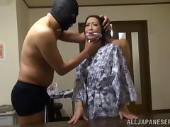 Sugary asian milf chick Emiri Sakashita enjoys hardcore fuck in bondage