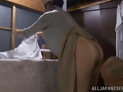 Hardcore reality clip with Japanese hussy enjoying rear banging