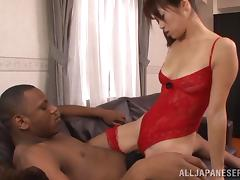 Terrific Asian Amateur In Sexy Lingerie Giving A Superb Titjob