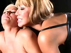 Mature asian and blonde woman
