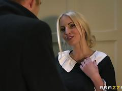 Blonde skank Loulou enjoys rough doggystyle sex with Danny D