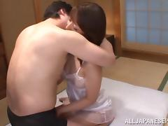 Sayuri Ikuina mature Asian hottie enjoys hard cock ride