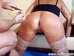 French wife double fisted in her ass