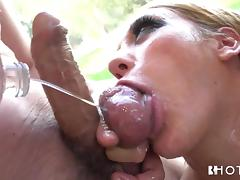 All, Babe, Blonde, Blowjob, Oil, Penis