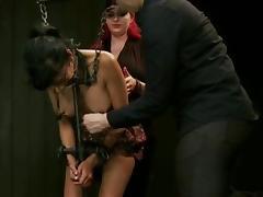 beautiful brunette tortured 1