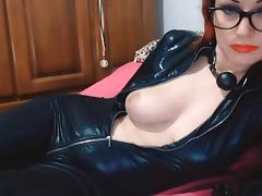 leather webcam