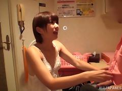 Nasty japanese amateur is into asian porn and cock sucking