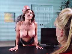 All, Blowjob, Couple, Cum in Mouth, Doggystyle, Office