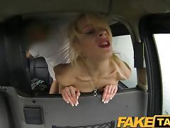 FakeTaxi Skinny blonde swaps pride for a ride