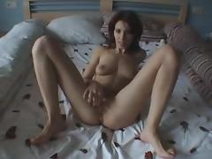 sexy brunette foot fetish and masturbation