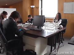 Hot office milf chick Nachi Kurosawa moans as she gets nailed hard