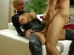 Latex, Amateur, Blonde, German, Latex, Tits