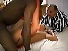 Sexy Cuckold Interracial Creampie and Muff Licking After