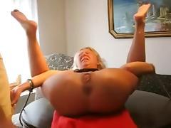 Granny extreme dildo and fisting