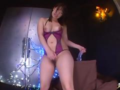 Dildo action and fishnet stocking banging An Shinohara