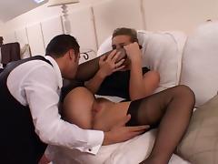 British Slut Louise in Black FF Stockings