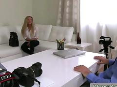 Amateur blonde milf fucked by a porn agent