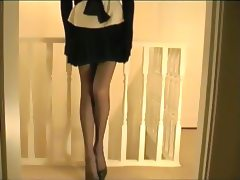 Pleated Skirt Lace Panties And Girdle