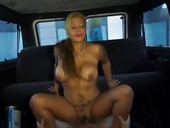 Slut milf having sex at public place