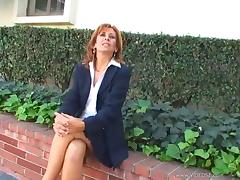 Mature Lady Gets Naughty As She Masturbates In The Office